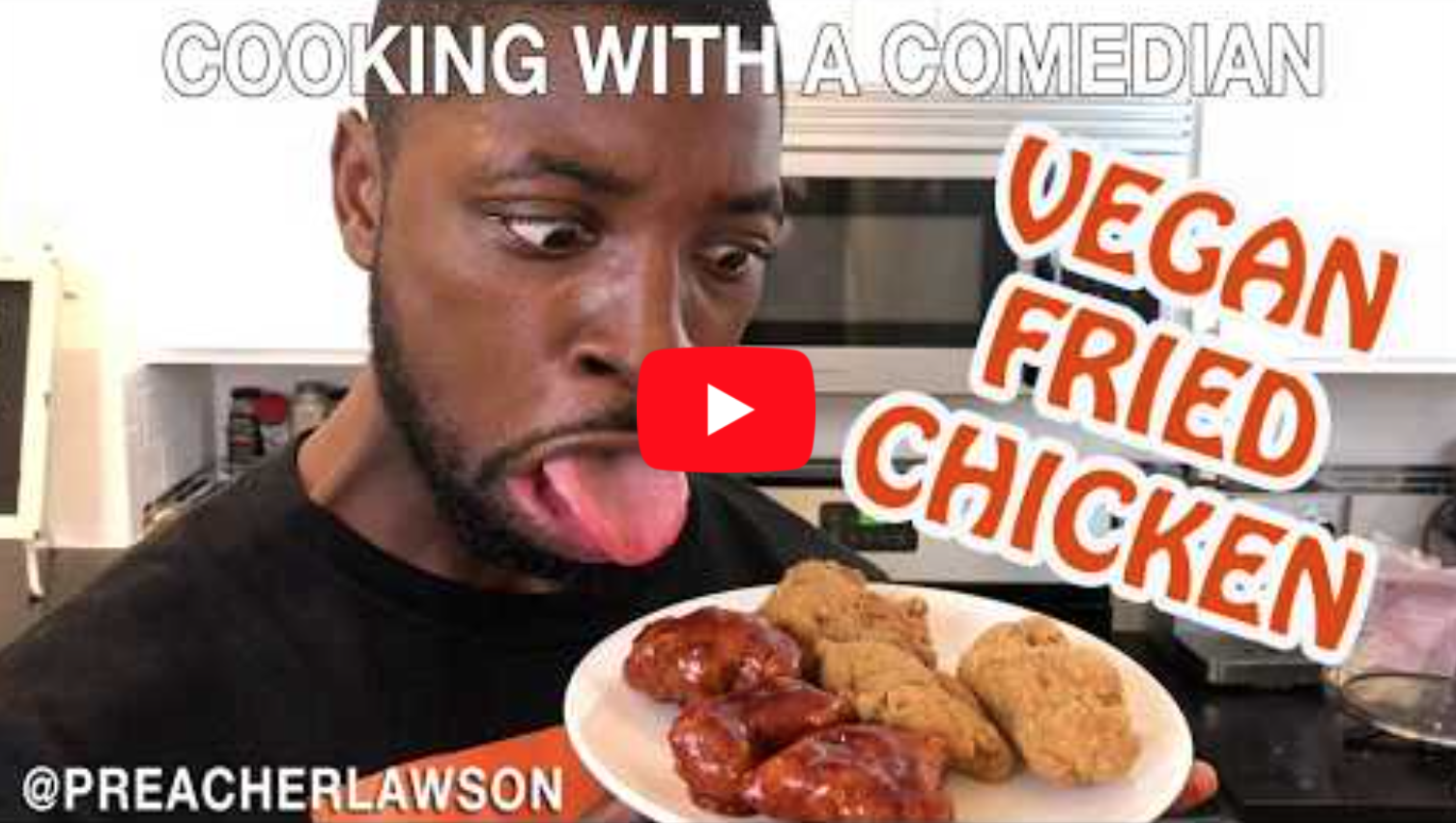 How To Make Vegan Fried Chicken - Cooking With A Comedian @PreacherLawson   VeganFlix