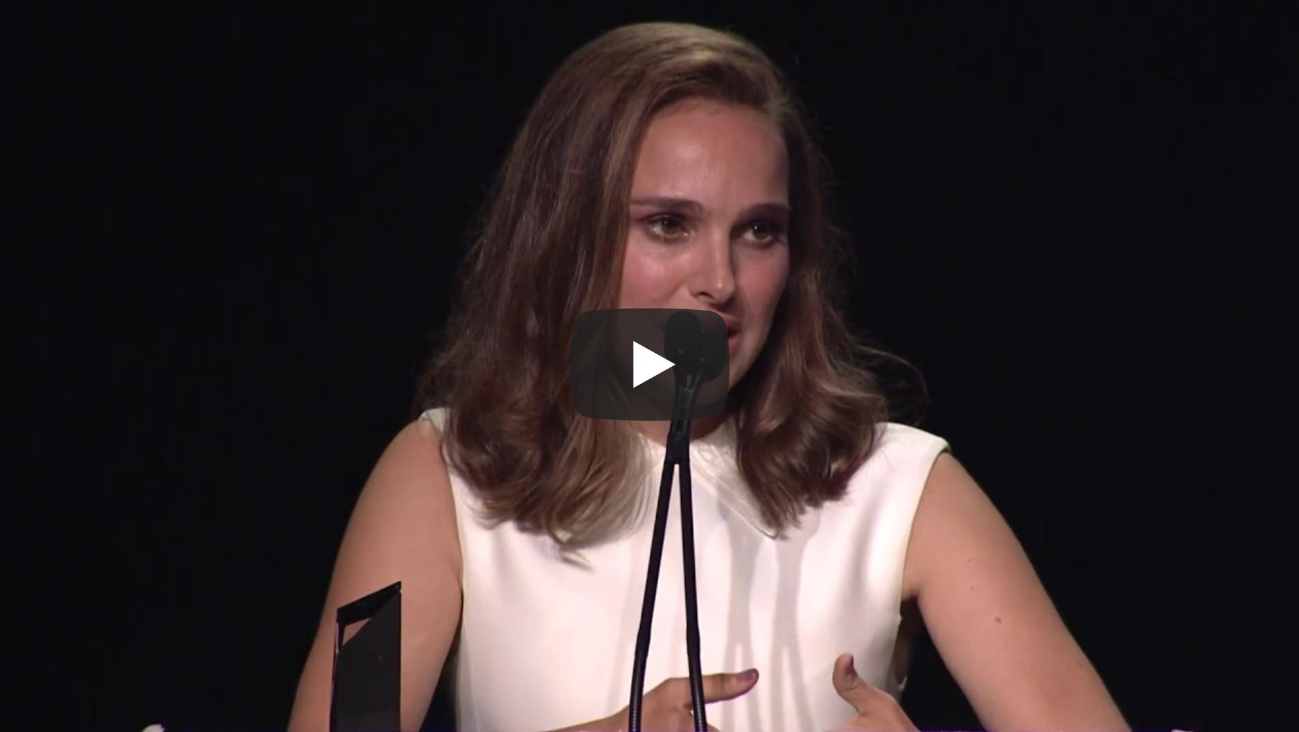 Natalie Portman's Speech at the 2017 EMA Awards | VeganFlix