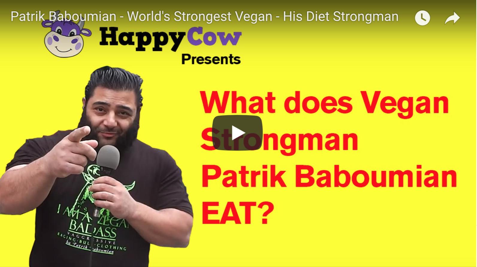 Patrik Baboumian - World's Strongest Vegan - His Diet Strongman | VeganFlix