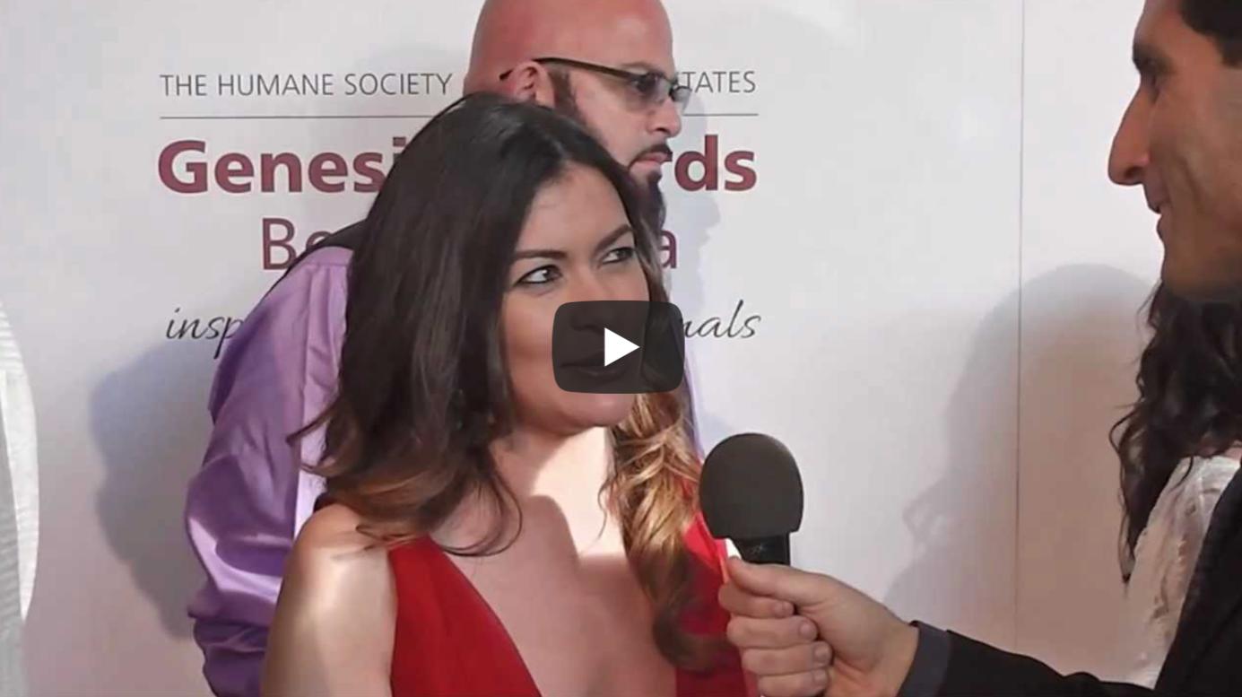 Leilani Munter (Vegan Nascar Driver) Interviewed at the 2013 Genesis Awards   VeganFlix