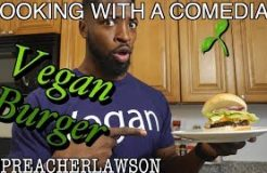 AMAZING Vegan Burger of ALL TIME!!! Cooking With a Comedian