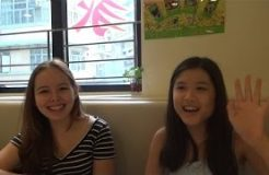 Vegan Teenagers Nicole and Danielle in Hong Kong