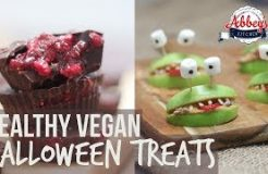 Healthy VEGAN HALLOWEEN Treats | Blood & Guts Chocolate Cups & Apple & Almond Butter Alien Smiles