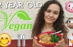 WHAT A 12 YEAR OLD VEGAN KID EATS IN A DAY!🌱
