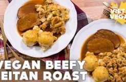 Vegan Beefy Seitan Roast [ Thanksgiving Collab! ]