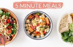 5 Minute Vegan Meals | Crazy Easy Vegan Recipes in Minutes