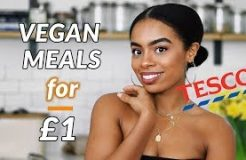 3 EASY DELICIOUS Vegan Meals for £1 TESCO | Vegan on Budget