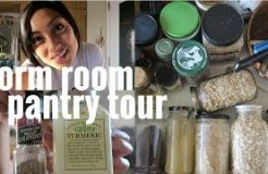 PANTRY + FRIDGE TOUR // COLLEGE TIPS AND IDEAS FOR VEGANS