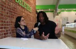 Georges Laraque talks about vegan food and his restaurant.